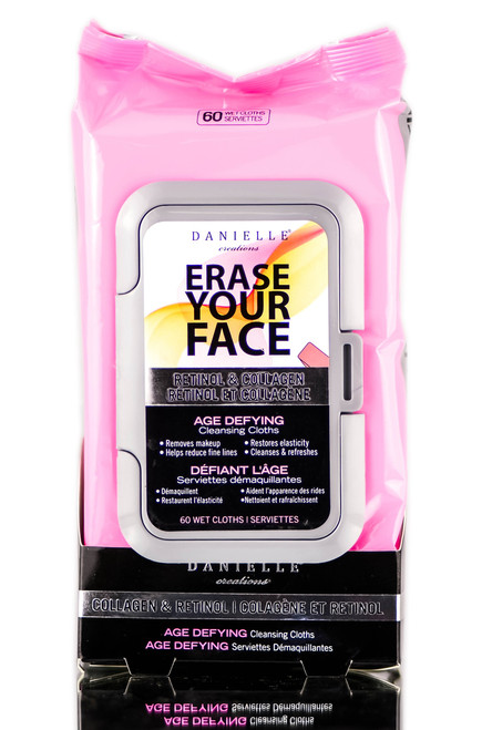 Danielle Creations Erase Your Face Retinol & Collagen Age Defying Cleansing Cloths