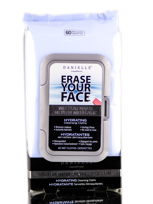 Danielle Creations Erase Your Face Micellar Water Hydrating Cleansing Cloths