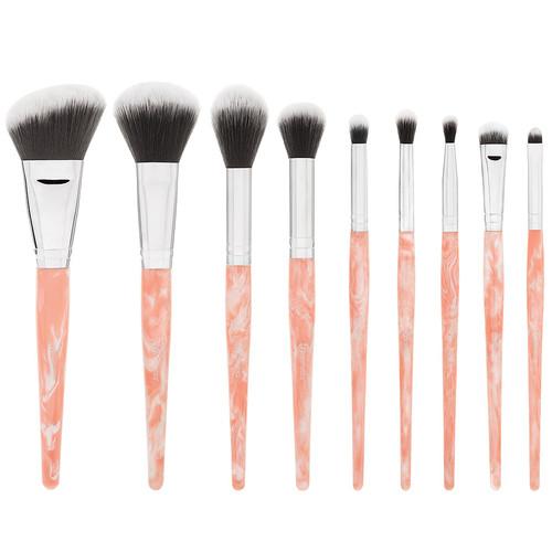 BH Cosmetics Rose Quartz 9 Piece Brush Set