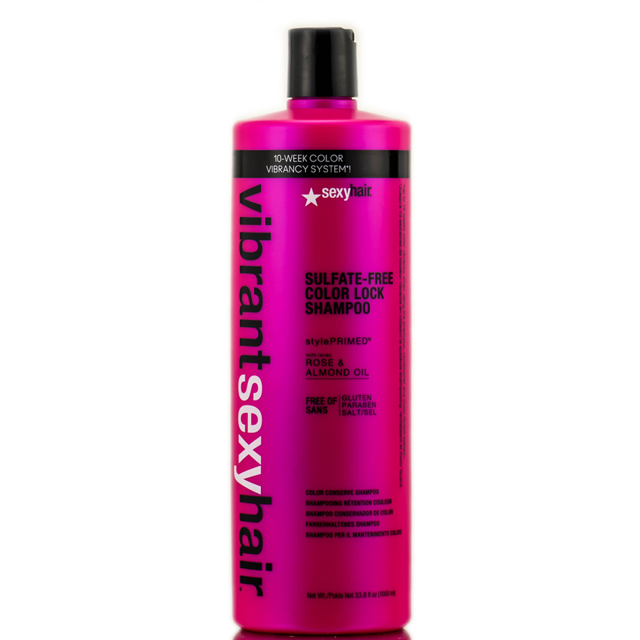 Sexy Hair Vibrant Rose & Almond Oil Sulfate - Free Color Lock Shampoo 646630015191