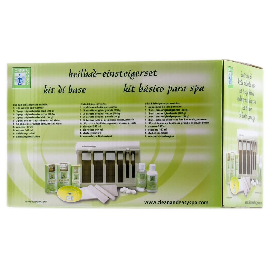 Clean + Easy Basic Waxing Spa Kit 672153402125