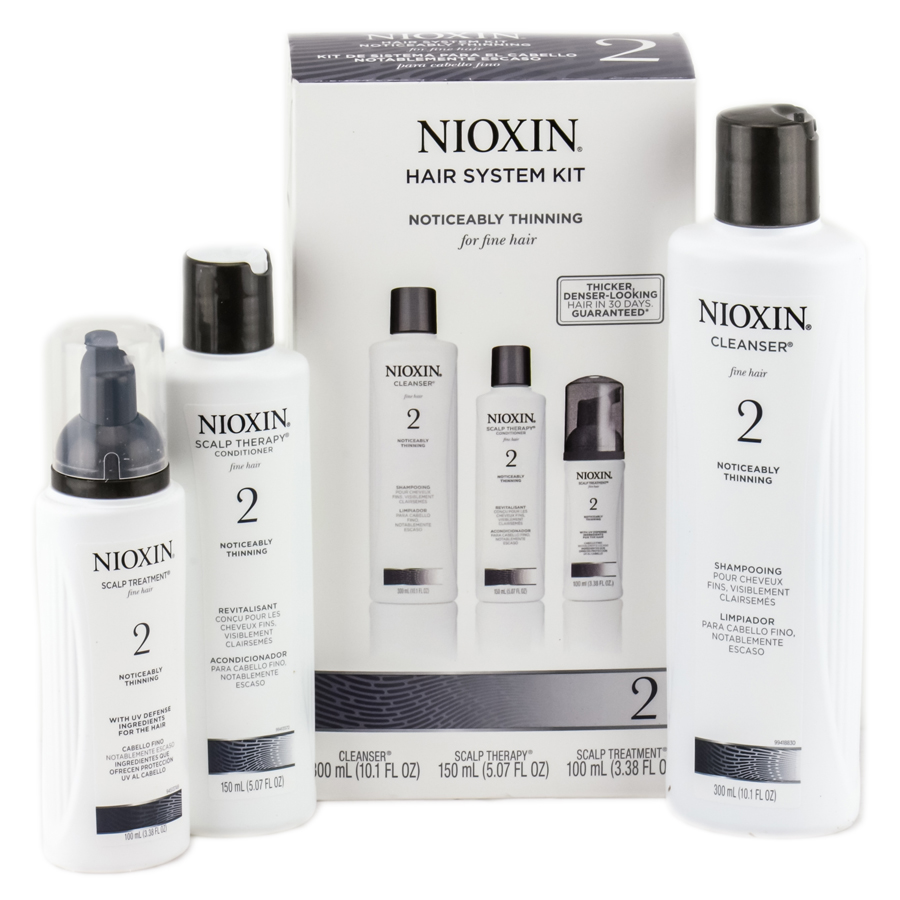 Nioxin System #2 Hair System Kit - Noticeably Thinning For Fine Hair 070018043160