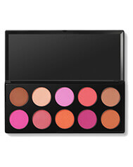 BH COSMETICS GLAMOROUS 10 COLOR BLUSH PALETTE