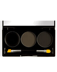 BH COSMETICS FLAWLESS BROW TRIO - DARK