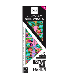 "NCLA nail wraps in ""lNeon Blossoms"""