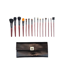 Morphe 15 Piece Pro Brush Set with Faux Snakeskin Case - Set 619