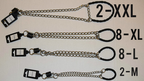 The 20 Collar Bulk Re-Sellers Package includes 20 collars: (2) XXL Big Daddy (8) XL (8) L (2) M collars. The package was designed for pet product re-sellers, dog trainers, foster and rescue organizations to purchase the SafeCalm Dog Training Collar at a reduced cost of $18.00 dollars per training collar plus free worldwide shipping.