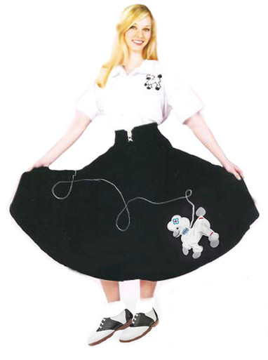 Vintage Inspired Halloween Costumes Adult Poodle Skirt $28.99 AT vintagedancer.com