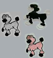 "Poodle Patch Chenille 8"""
