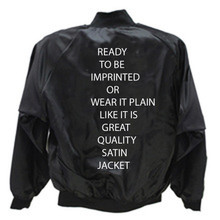 Satin Jackets Blank Youth Black