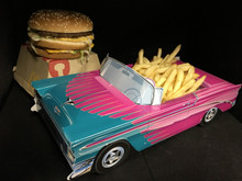 Cardboard Classic Car Food Box Centerpiece & Party Decoration 33 Styles
