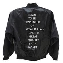 Satin Jackets Blank Black