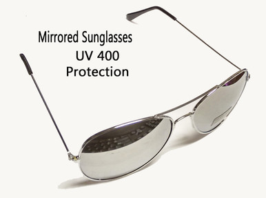 """Mirrored sunglasses were for the COOLEST OF THE COOL in the 50's & 60's and today is no exception! If you think they are just for the male population, think again, they are a real favorite with women of all ages, too! And not just the """"baby boomers"""". We are talking the younger set. Make your own fashion statement!"""