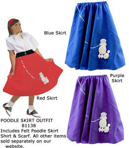 50s Felt Poodle Skirt Costume Includes A In Adult One Size Fits Most