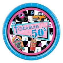 Fabulous 50s Theme Party Plates