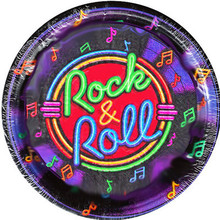 Rock & Roll Party Plates 9""