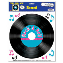 45 RPM Record Peel and Place Cling
