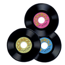 50s Party Plastic Record Set