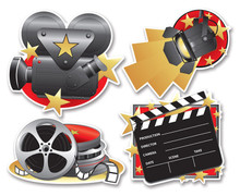 Movie Set Cutouts 4 Pieces