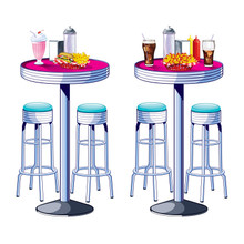 50's Soda Shop Tables &  Stools Insta Theme