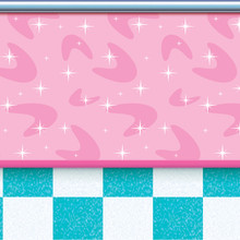 50s Soda Shop Backdrop Wall Mural