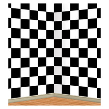 Black & White Check Backdrop Wall Mural