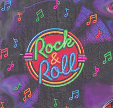 Rock & Roll Luncheon Paper Party Napkins