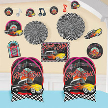 10 piece mega 50s party theme decoration package!