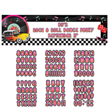 50s Rock & Roll Personalized Giant Banner Kit