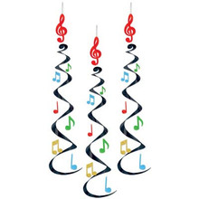 Metallic Musical Note Whirls