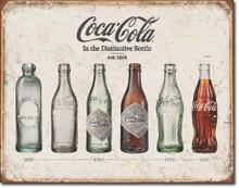 COKE - Bottle Evolution Tin Sign