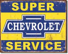 Super Chevy Service Tin Sign