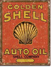 Shell Auto Oil Tin Sign