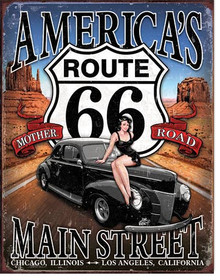 RT 66 - America's Main Street Tin Sign