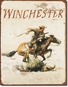 Winchester Logo Tin Sign