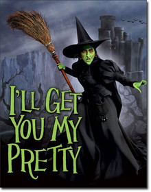 WOZ - Witch - I'll Get You Tin Sign