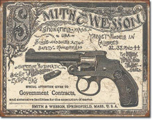 S&W - 1892 Gov. Contracts Tin Sign