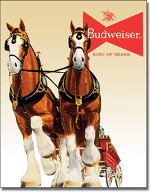 Bud Clydesdale Team Tin Sign