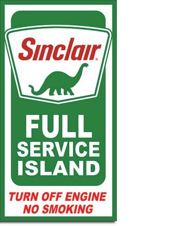 Sinclair Service Island Tin Sign