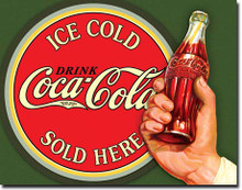 COKE - Ice Cold Bullseye Tin Sign