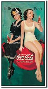 COKE - 50th Annv. Bathers Tin Sign