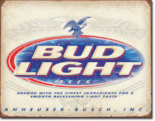 BUD Light Retro Tin Sign