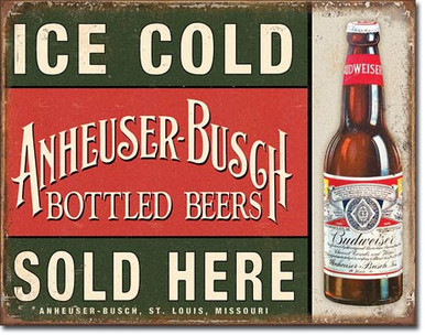 Anheuser-Busch - Ice Cold Tin Sign