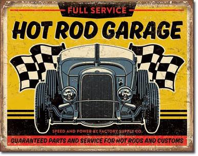 Hot Rod Garage - '32 Rod Tin Sign