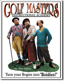 Stooges - Golf Masters Tin Sign