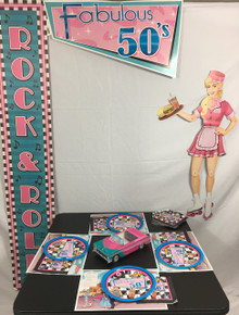 Fab 50s Pink & Teal Party Pack (Perfect for 15-20 Guests)