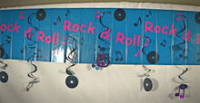 Rock and Roll Ceiling Decoration