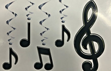 Musical Note Whirls Hanging Decorations