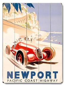 Newport Highway Wooden Sign