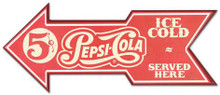 Pepsi Arrow Wooden Sign